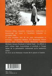 Pour Feter Florence Delay - 4ème de couverture - Format classique