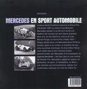 Mercedes En Sport Automobile - 4ème de couverture - Format classique