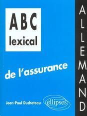 Abc Lexical De L'Assurance Allemand - Intérieur - Format classique