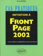 Initiation A Front Page 2002 - Intérieur - Format classique