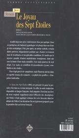 Joyau des sept etoiles - 4ème de couverture - Format classique