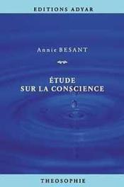 Etude Sur La Conscience - Couverture - Format classique