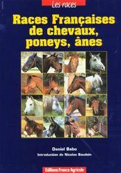 Les Races Francaises De Chevaux ; Poneys Et Anes - Intérieur - Format classique