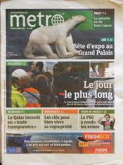 Metro Paris N°2180 du 22/03/2012 - Couverture - Format classique