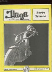 Haga N°47 - La Revue De La Bande Dessinee - Barbe Frisano - Couverture - Format classique
