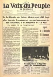 Voix Du Peuple De Touraine (La) N°1324 du 11/12/1966 - Couverture - Format classique