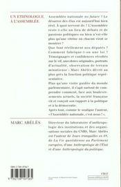 Un Ethnologue A L'Assemblee - 4ème de couverture - Format classique