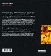 Immunologie 4e Edition - 4ème de couverture - Format classique