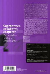 Coordonner, collaborer, coopérer - 4ème de couverture - Format classique
