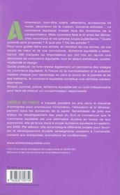Achetons équitable - 4ème de couverture - Format classique