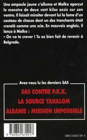 Sas 136 Bombes Sur Belgrade - 4ème de couverture - Format classique