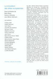 La circulation des élites européennes ; entre histoire des idées et histoire sociale - 4ème de couverture - Format classique