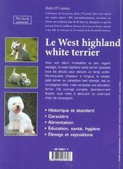 Le west highland white terrier - 4ème de couverture - Format classique