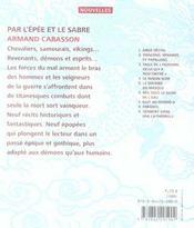 Par L'Epee Et Le Sabre - 4ème de couverture - Format classique