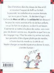 Max et Lili aident les enfants du monde - 4ème de couverture - Format classique