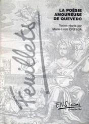 La poésie amoureuse de Quevedo - Couverture - Format classique
