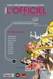 Officiel De La Musique 2006 - Couverture - Format classique