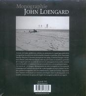 John Loengard Monographie - 4ème de couverture - Format classique