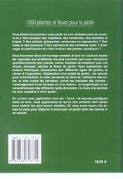 1000 Plantes Et Fleurs - 4ème de couverture - Format classique