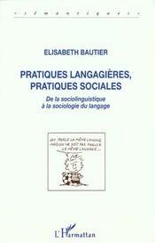 Pratiques Langagieres, Pratiques Sociales - Intérieur - Format classique