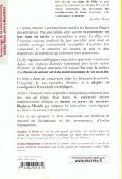 Les Nouveaux Business-Models Et La Creation De Valeur A L'Ere D'Internet Sur La Ligne De Faille - 4ème de couverture - Format classique