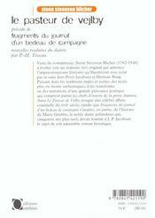 Pasteur De Vejlby (Le) - 4ème de couverture - Format classique