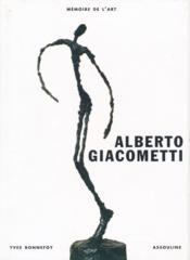 Alberto Giacometti - Couverture - Format classique