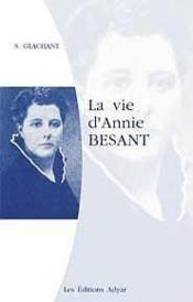 Vie D'Annie Besant - Couverture - Format classique