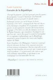 Corsaire de la République - 4ème de couverture - Format classique
