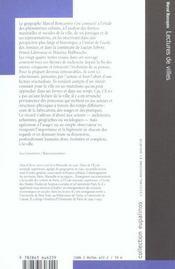 Lectures De Villes - Formes Et Temps - 4ème de couverture - Format classique