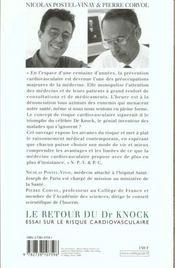 Le Retour Du Dr Knock - 4ème de couverture - Format classique