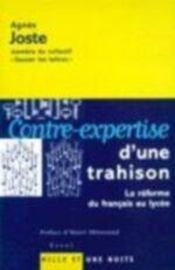 Contre-Expertise D'Une Trahison - Intérieur - Format classique