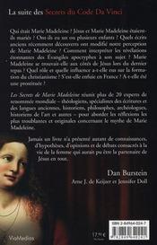 Les secrets de Marie Madeleine - 4ème de couverture - Format classique