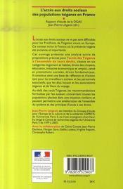 L'accès aux droits sociaux des populations tsiganes en France ; rapport d'étude de la direction générale de l'action sociale - 4ème de couverture - Format classique