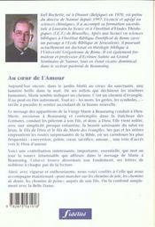 Au Coeur De L'Amour. Un Chemin D'Evangile Avecmarie, Notre-Dame De Beauraing - 4ème de couverture - Format classique