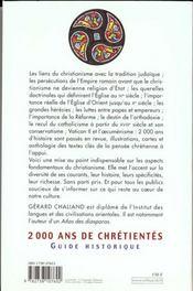 2000 Ans De Chretientes - 4ème de couverture - Format classique