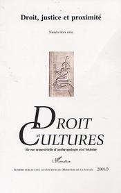 Revue Droit Et Cultures T.20 ; Droit Justice Et Proximite