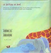 Bateau De Noe- Et Cinq Autres Recits De La Bible (Le) - 4ème de couverture - Format classique