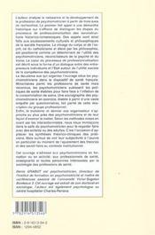 Psychomotricite emergence et developpement d'une profession - 4ème de couverture - Format classique