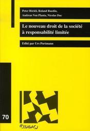 Le nouveau droit de la société à responsabilité limitée - Intérieur - Format classique