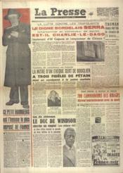 Presse (La) N°154 du 25/10/1948 - Couverture - Format classique