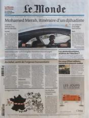 Monde (Le) N°20893 du 23/03/2012 - Couverture - Format classique