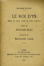Le Roi D'Ys - Couverture - Format classique