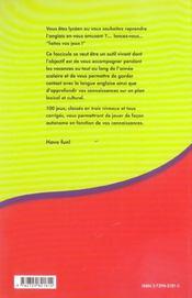 Faites Vos Jeux Reviser Son Vocabulaire Anglais En S'Amusant Niveau Lycee - 4ème de couverture - Format classique