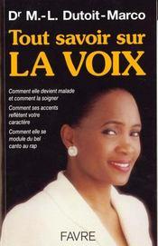 Tout savoir sur la voix - Intérieur - Format classique