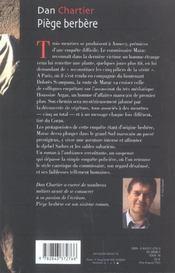 Piège berbère - 4ème de couverture - Format classique
