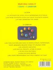 MULTI BLOC-NOTES 5eme - 4ème de couverture - Format classique