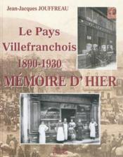 Le Pays Villefranchois - Couverture - Format classique