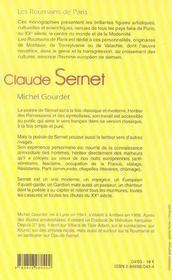 Claude Sernet - 4ème de couverture - Format classique