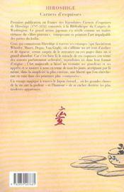Hiroshige Carnets D Esquisses - 4ème de couverture - Format classique
